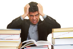 Frustration while learning Royalty Free Stock Photo