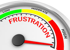 Frustration. Level to maximum conceptual meter , 3d rendering Royalty Free Stock Photo
