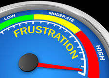 Frustration. Level to maximum conceptual meter , 3d rendering vector illustration
