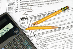 Frustration Of Filing Taxes Royalty Free Stock Image