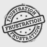 Frustration rubber stamp isolated on white. Frustration rubber stamp isolated on white background. Grunge round seal with text, ink texture and splatter and Stock Photos