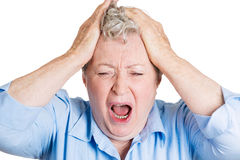 Frustration, stress Royalty Free Stock Photos