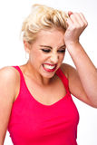 Frustration and Stress and Regret Royalty Free Stock Photo