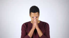 Frustration, Stress, Tension, Gesture by Young Afro-American Man Stock Photography
