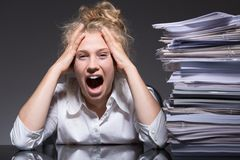 Frustration and stress Royalty Free Stock Images