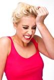 Frustration und Druck und Reue Lizenzfreies Stockfoto