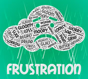 Frustration Word Means Annoyed Frustrating And Text Royalty Free Stock Images