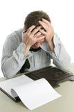 frustrationkontorsarbetare royaltyfri foto