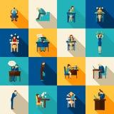 Frustrations-Ikonen-Ebenen-Satz Lizenzfreie Stockbilder