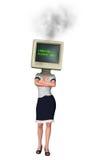Frustrations-langsame Arbeitskraft-ungeduldig heiße Monitor-Illustration Lizenzfreie Stockfotografie