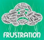 Frustrations-Wort-Durchschnitte störten die Frustration und Text Lizenzfreie Stockbilder