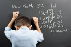 Frustrato al nuovo per la matematica Immagini Stock Libere da Diritti