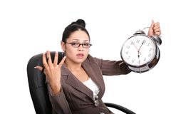 Frustrato con i fermi di tempo Immagine Stock Libera da Diritti