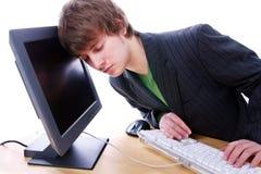 Frustrazione del calcolatore Immagine Stock