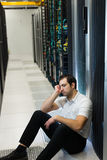 Frustrazione del server Immagini Stock Libere da Diritti
