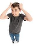 Frustrazione di sforzo che estrae capelli Immagini Stock Libere da Diritti