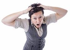 Frustrerad affärskvinna Royaltyfri Fotografi