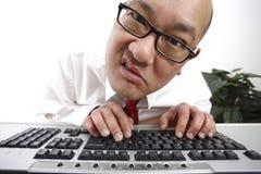 frustrerad anställd Arkivbild