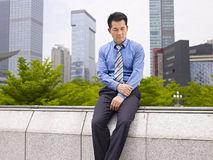 Frustrerad asiatisk affärsledare Arkivbilder
