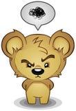 frustrerad barsk nalle för björn Royaltyfri Fotografi