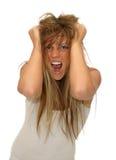 frustrerad flicka Arkivbild