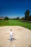 Frustrerad golf arkivfoto