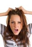 frustrerad kvinna Arkivbilder