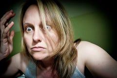 Frustrerad kvinna Arkivfoton