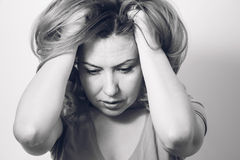 frustrerad kvinna för affär Fotografering för Bildbyråer