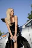 frustrerad kvinna för chaufför Royaltyfri Bild