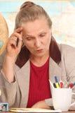 frustrerad lärare Royaltyfria Foton