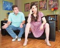 Frustrerade förväntande föräldrar Royaltyfri Foto