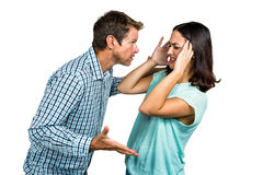 Frustrerade par som argumenterar med de Royaltyfri Fotografi