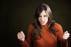 frustrerat kvinnabarn arkivbilder
