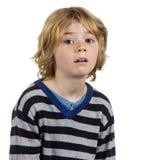 Frustrerat pojkebarn för avgasrör Royaltyfri Bild