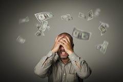 frustriert Fallende Dollar lizenzfreie stockfotografie