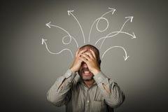 Frustriert. Mann in den Gedanken. lizenzfreies stockfoto