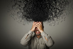 frustriert Mann und Chaos lizenzfreies stockbild