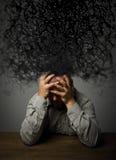 frustriert Mann und Chaos stockfotografie