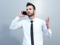 Frustriert mit jungem Geschäftsmann der Probleme stockfoto