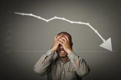 Frustriert. Rezessionskonzept stockfotografie