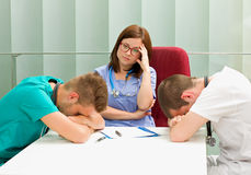 Frustrierte Doktoren Lizenzfreie Stockbilder