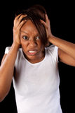 Frustrierte Frau lizenzfreie stockbilder