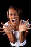 Frustrierte Frau stockfotografie