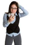 Frustrierte Geschäftsfrau Lizenzfreie Stockfotografie
