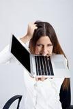 Frustrierte Geschäftsfrau stockfotografie
