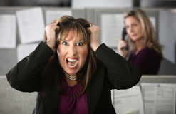 Frustrierter Büroangestellter Stockfotos
