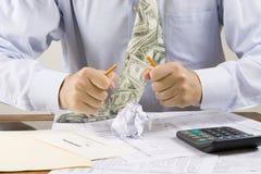 Frustrierter Buchhalter stockfotos