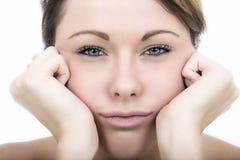 Frustrierter Fed Up Bored Young Woman lizenzfreies stockfoto