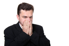 frustrierter Geschäftsmann Stockfotos